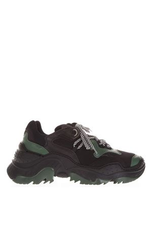 BILLY BLACK & GREEN RUNNING SNEAKERS FW 2018 N°21 | 55 | SS00110011SS021RUBBER BL/GREEN