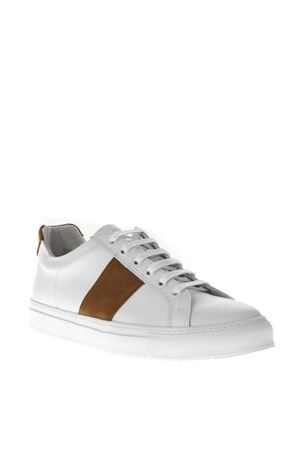 4 EDITION WHITE LEATHER SNEAKERS FW 2018 NATIONAL STANDARD | 55 | MO418F0031COGNAC