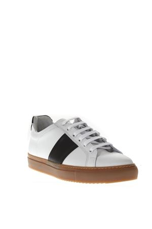 WHITE LEATHER HONEY SOLE BLUE BANDS SNEAKERS FW 2018 NATIONAL STANDARD | 55 | MO418F0191BLACK