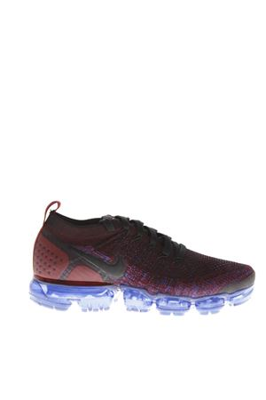 AIR VAPORMAX BLUE & BURGUNDY FABRIC SNEAKERS FW 2018 NIKE | 55 | 942843006RED/BLU