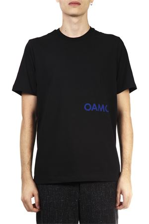 BLACK COTTON T-SHIRT WITH LOGO OAMC FW 2018 OAMC | 15 | 707367ON247508A1001