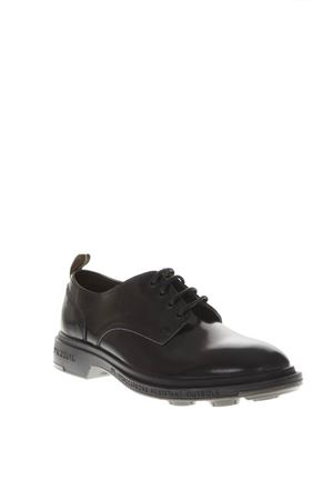 BLACK LEATHER LACE UP SHOES FW 2018 PEZZOL | 208 | 042FZROYAL NAVY12