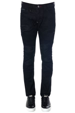 JEANS SUPER STRAIGHT CUT CAMOU NERO IN COTONE AI 2018 PHILIPP PLEIN | 4 | F18CMDT1096PDE004N02