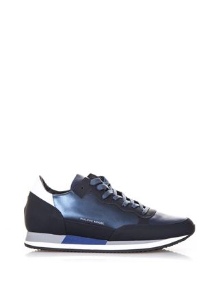 METALLIC BLUE LEATHER SNEAKERS SS18 PHILIPPE MODEL | 55 | CHLUPARADIS L UMS08
