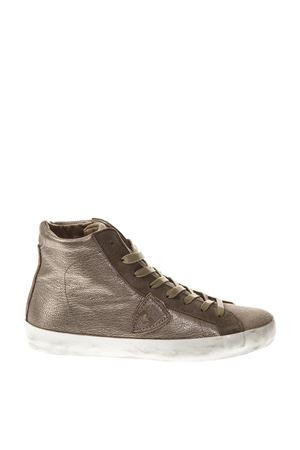 COPPER LAMINATED LEATHER HIGH-TOP SNEAKERS FW 2018 PHILIPPE MODEL | 55 | CLHDUNIXY17