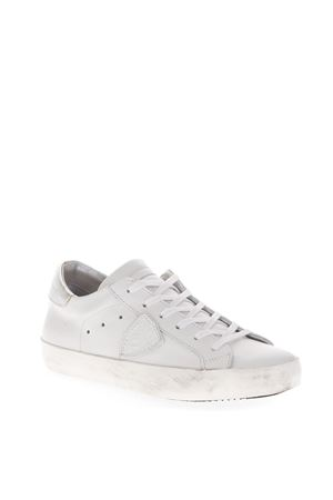 WHITE PARIS SNEAKERS IN LEATHER FW 2018 PHILIPPE MODEL | 55 | CLLDUNIV034