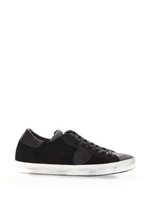 LOW-TOP BLACK LEATHER SNEAKERS FW 2018 PHILIPPE MODEL   55   CLLUUNIXY15