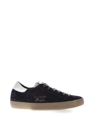 BLUE SUEDE SNEAKERS WITH WHITE LEATHER INSERT FW 2018 PHILIPPE MODEL   55   CVLUUNIXH12