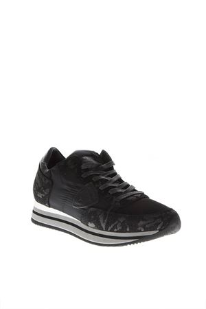 BLACK MIMETIC SNEAKERS IN LEATHER FW 2018 PHILIPPE MODEL | 55 | THLDUNIXF84