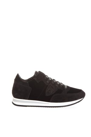 TROPEZ BLACK VELVET & LEATHER SNEAKERS FW 2018 PHILIPPE MODEL | 55 | TRLDUNIEV08