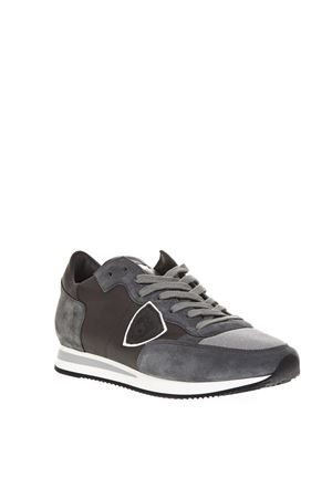 DARK GRAY SUEDE & LEATHER SNEAKERS FW 2018 PHILIPPE MODEL | 55 | TRLUUNI5003