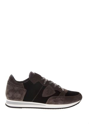 TROPEZ GRAY SUEDE & BLACK VELVET SNEAKERS FW 2018 PHILIPPE MODEL | 55 | TRLUUNIEV09