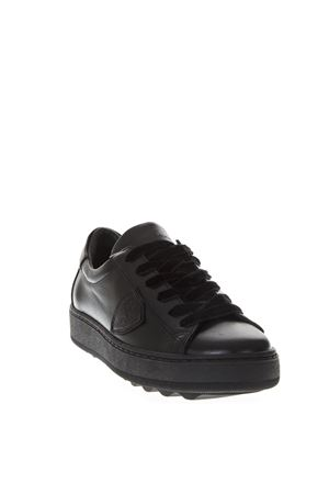 MADELINE BLACK LEATHER SNEAKERS FW 2018 PHILIPPE MODEL | 55 | VBLDUNIM004
