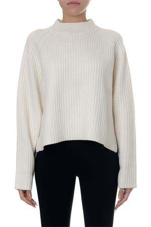 OFF-WHITE KNITTED WOOL-CASHMERE BLEND JUMPER FW 2018 PROENZA SCHOULER | 16 | R1847105100101