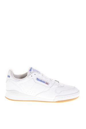 38dea5108d58 PHASE 1 MU WHITE LEATHER SNEAKERS FW 2018 REEBOK