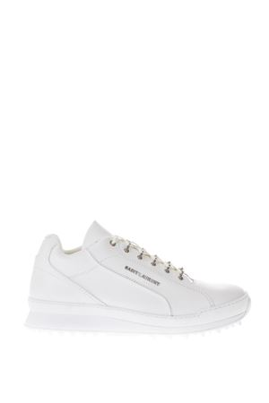 JUMP WHITE LEATHER SNEAKERS WITH USED EFFECT FW 2018/2019 SAINT LAURENT | 55 | 501612D26009030