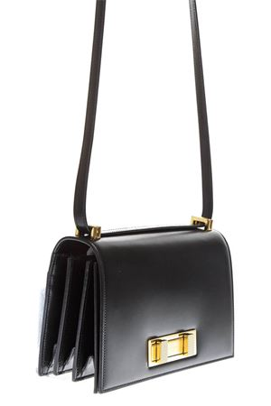 BORSA MEDIA DOMINO NERA IN PELLE LISCIA AI 2018 SAINT LAURENT | 2 | 5387910SX0J1000