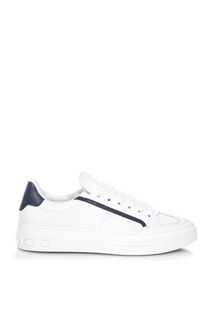GANCINI WHITE LEATHER SNEAKERS FW 2018 SALVATORE FERRAGAMO | 55 | 02B227BORGGESSO/BIANCO
