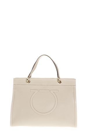 PEONY GANCINI TOTE BAG IN LEATHER FW 2018 SALVATORE FERRAGAMO | 2 | 21H110MEERAPEONY