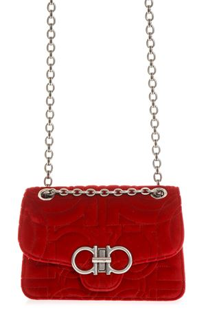 RED SUEDE BAG WITH CHAIN FW 2018 SALVATORE FERRAGAMO | 2 | 21H248QUILTINGLIPSTICK
