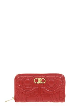 MINI BAG IN RED LEATHER WITH EMBOSSED GANCINI PRINT FW 2018 SALVATORE FERRAGAMO | 34 | 22D332MUFASALIPSTICK