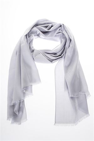 LIGHT GREY SILK & WOOL SCARF WITH LOGO FW 2018/2019 SALVATORE FERRAGAMO | 20 | 323010ST GANPERLA