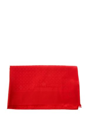 RED SILK & WOOL SCARF WITH LOGO FW 2018/2019 SALVATORE FERRAGAMO | 20 | 323010ST GANROSSO