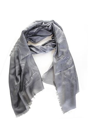 SILK SCARF AND GRAY CASHMERE WITH HOOK LOGO FW 2018 SALVATORE FERRAGAMO | 20 | 326305ST GANGRIGIO PERLA