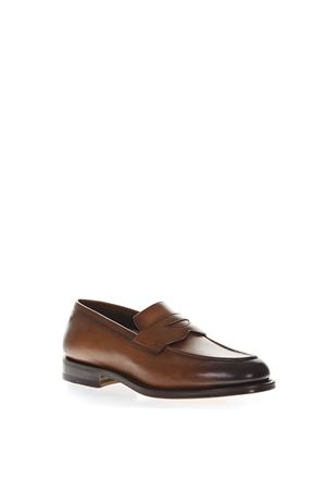 BROWN LEATHER LOAFERS FW 2018 SANTONI | 130 | MCHI12693PC4NGTHS49