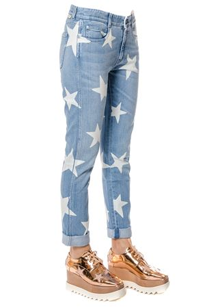 ANKLE GLAZER WHITE STAR COTTON DENIM JEANS FW 2018 STELLA McCARTNEY | 4 | 372773SEH284030