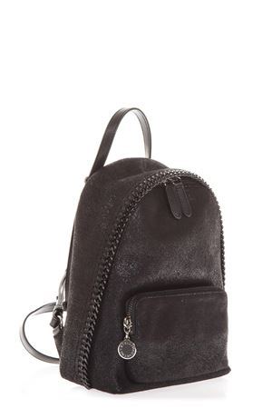 FALABELLA SMALL BLACK BACKPACK IN SHAGGY DEER FW 2018 STELLA McCARTNEY | 183 | 468908W81801000
