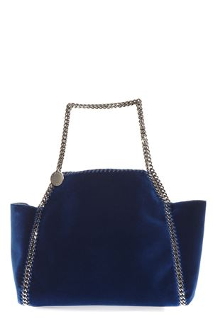 BLUE WIDE FALABELLA TOTE BAG IN VELVET FW 2018 STELLA McCARTNEY | 2 | 507185W83214260