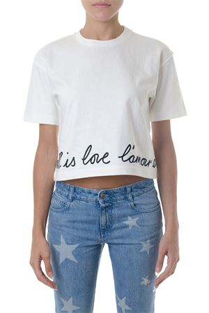 ALL IS LOVE WHITE COTTON T-SHIRT FW 2018 STELLA McCARTNEY | 15 | 523506SLW159000