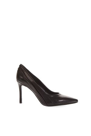 BLACK SIDE NOTCHED PUMPS IN LEATHER FW 2018 STEPHEN GOOD LONDON | 68 | SG5019NAPPANERO