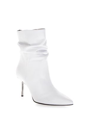 WHITE DROP DOWN BOOTS IN LEATHER FW 2018 STEPHEN GOOD LONDON | 52 | SG5054NAPPABIANCO
