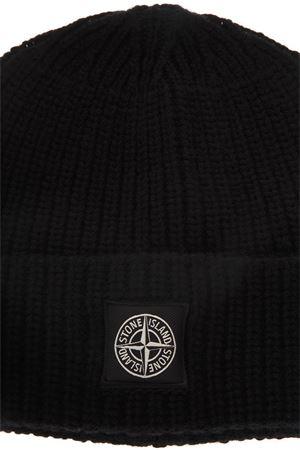BLACK WOOL RIBBED HAT FW 2018 - STONE ISLAND - Boutique Galiano 1745271fec30