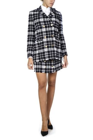 BLACK WOOL CHECK MINI SKIRT FW 2018 THOM BROWNE | 26 | FGC442T03957415