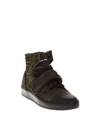GREEN/BLACK RUBBER AND SUEDE SNEAKERS FW 2018 THoMS NICOLL | 55 | 455CAMOSCIO/GOMMATOVERDE/NERO