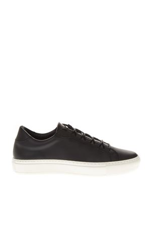 BLACK LOW TOP RUBBER SNEAKERS FW 2018 THoMS NICOLL | 55 | 460VITELLONERO