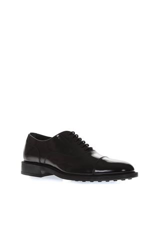 BLACK CLASSIC LACED UP SHOES IN LEATHER FW 2018 TOD
