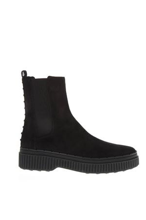 BLACK SUEDE LEATHER ANKLE BOOTFW 2018 TOD