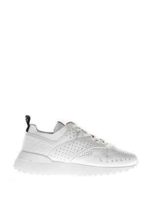 WHITE PIERCED SNEAKERS IN LEATHER FW 2018 TOD