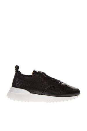 BLACK PERFORATED SNEAKERS IN LEATHER  FW 2018 TOD