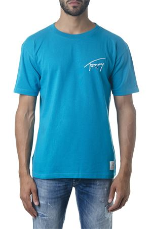SKY COTTON T-SHIRT WITH TOMMY LOGO FW 2018 TOMMY JEANS | 15 | DM0DM056744281428