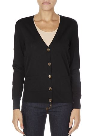BLACK WOOL BUTTONED CARDIGAN FW 2018 TORY BURCH | 16 | 36369MADELINE001