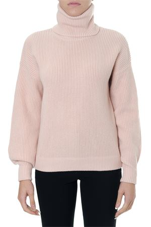 PINK HIGH NECK RIBBED WOOL SWEATER FW 2018 TORY BURCH   16   49408INEZ693