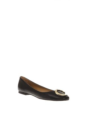 CATERINA BALLET BLACK LEATHER FLAT FW 2018 TORY BURCH | 150 | 51672CATERINA BALLET006