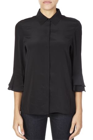 SILK BLACK SHIRT WITH RUFFLED CUFFS FW 2018 TORY BURCH | 9 | 53007MONICA001