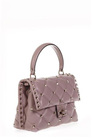 ANCIENT ROSE QUILTED LEATHER CANDYSTUD SPIKE BAG FW 2018 VALENTINO GARAVANI | 2 | QW0B0B55NAPI83