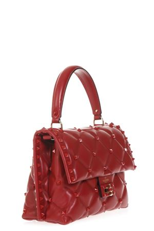 RED QUILTED LEATHER CANDYSTUD SPIKE BAG FW 2018 VALENTINO GARAVANI | 2 | QW0B0B55PYW0RO